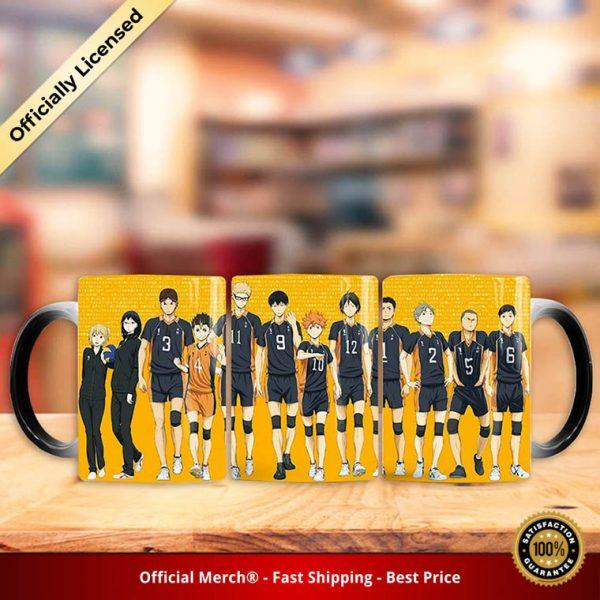 1 Pc Anime Haikyuu Ceramic Cups Changing Color Mug Milk Coffee Mugs Anime Figure Model Toy 2 - Haikyuu Merch Store
