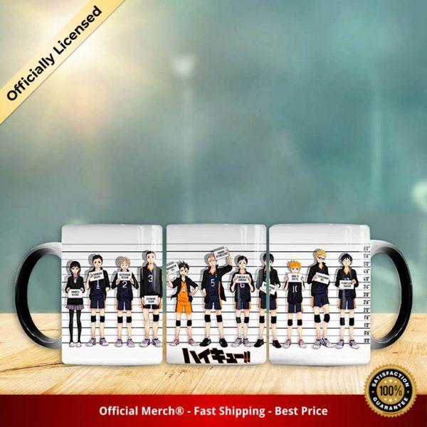1 Pc Anime Haikyuu Ceramic Cups Changing Color Mug Milk Coffee Mugs Anime Figure Model Toy 4 - Haikyuu Merch Store