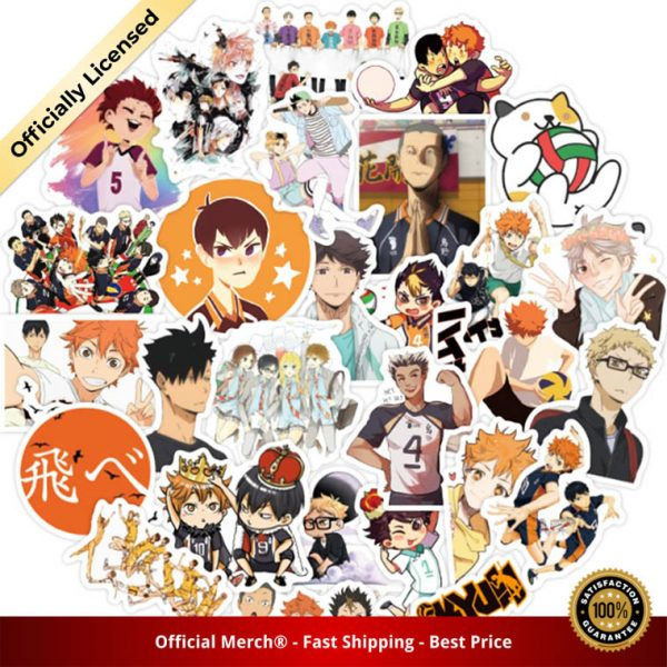 50Pcs Set Haikyuu Stickers Japanese Anime Sticker Volleyball for Decal on Guitar Suitcase Laptop Phone Fridge 2 - Haikyuu Merch Store