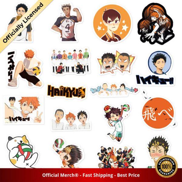 50Pcs Set Haikyuu Stickers Japanese Anime Sticker Volleyball for Decal on Guitar Suitcase Laptop Phone Fridge 3 - Haikyuu Merch Store