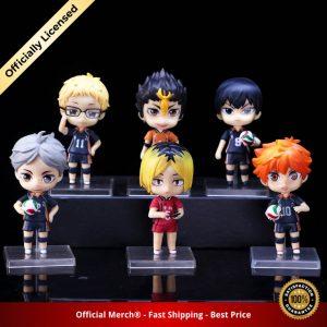 6pcs set Haikyuu Cute PVC Anime Figure Toys Hinata Shoyo Tobio Kenma Tooru Yuu Kei Model - Haikyuu Merch Store