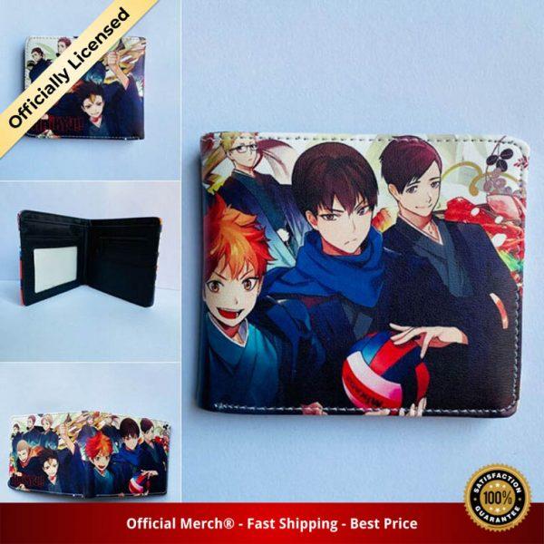 Anime Haikyuu Mens Bifold PU Leather Wallet Coin Pocket Credit Card Id Window 1 - Haikyuu Merch Store