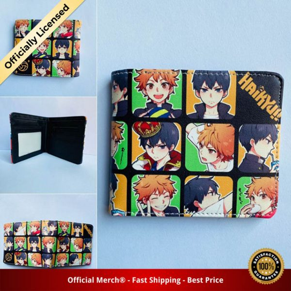 Anime Haikyuu Mens Bifold PU Leather Wallet Coin Pocket Credit Card Id Window 4 - Haikyuu Merch Store