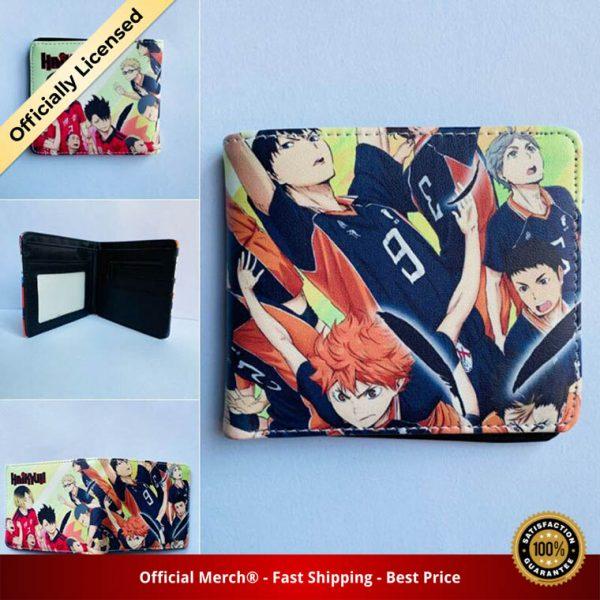 Anime Haikyuu Mens Bifold PU Leather Wallet Coin Pocket Credit Card Id Window 5 - Haikyuu Merch Store