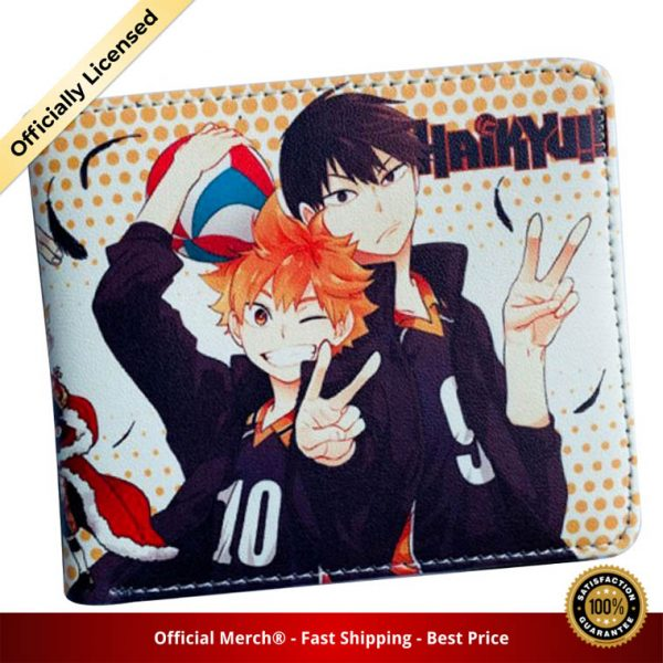 Anime Haikyuu Mens Bifold PU Leather Wallet Coin Pocket Credit Card Id Window - Haikyuu Merch Store