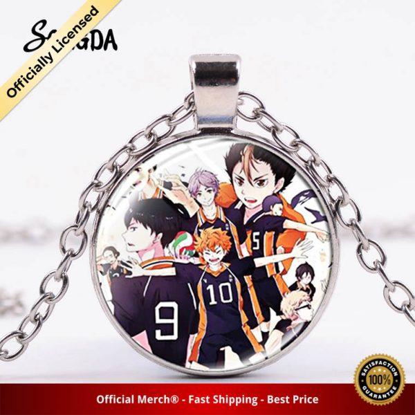 Anime Manga Haikyuu Necklace Hinata Shoyo Kageyama Tobio Anime Figure Glass Gem Pendant Cosplay Jewelry for - Haikyuu Merch Store