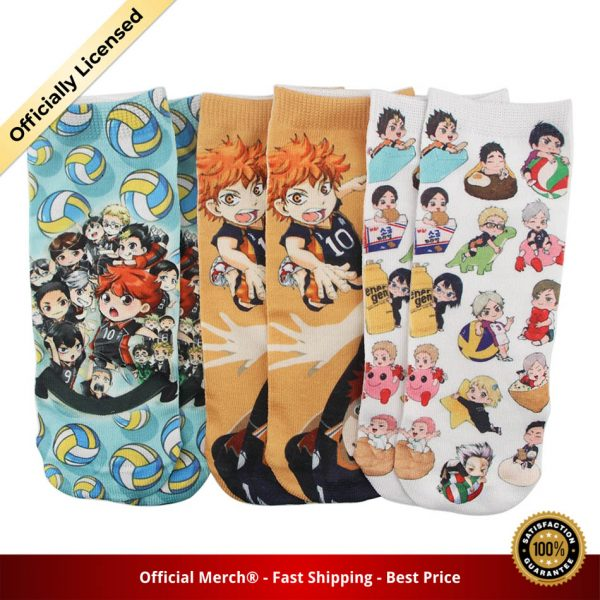 DZ985 Cute Haikyuu Anime Happy Socks Casual Creative Soft Comfortable Funny Novelty Men Women Cotton 1 - Haikyuu Merch Store