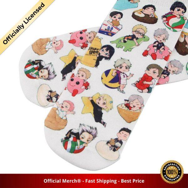 DZ985 Cute Haikyuu Anime Happy Socks Casual Creative Soft Comfortable Funny Novelty Men Women Cotton 3 - Haikyuu Merch Store