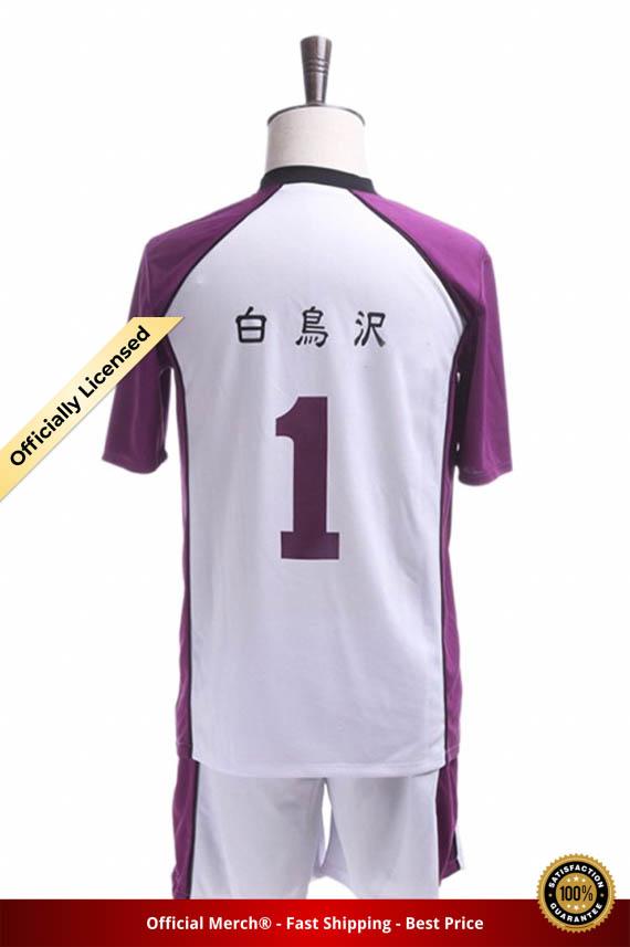 Haikyuu Season 3 Cosplay Jersey Shiratorizawa Academy Uniforms Wakatoshi Ushijima Eita Semi Satori Tendo Sportwear Costume 1 - Haikyuu Merch Store