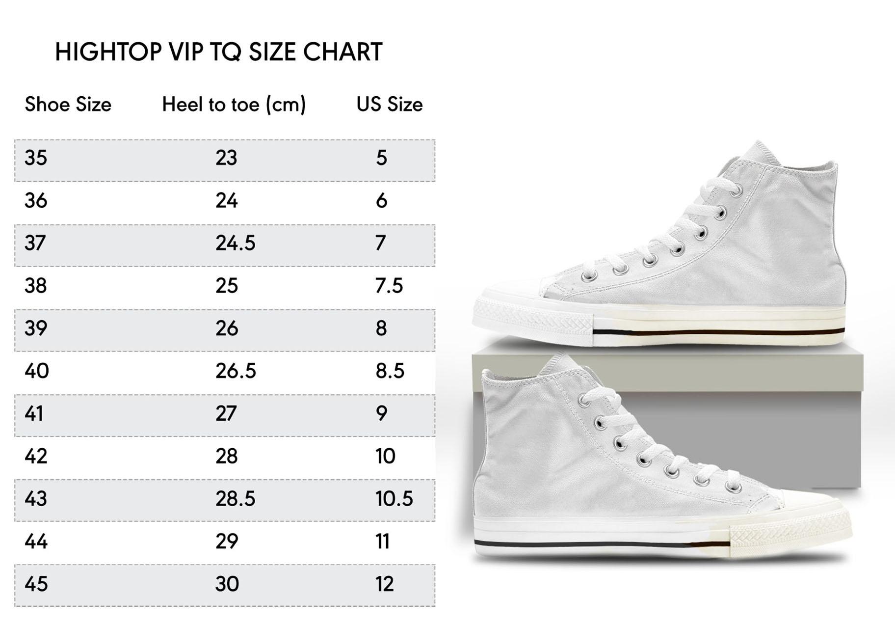 Hightop vip size chart 011 - Haikyuu Merch Store