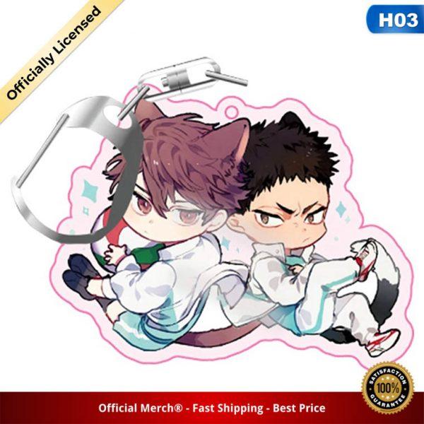 Volleyball boy Key Chain Ring Anime Haikyuu Keyring Cute Cartoon Keychain sleutelhanger 2020 New 4 - Haikyuu Merch Store