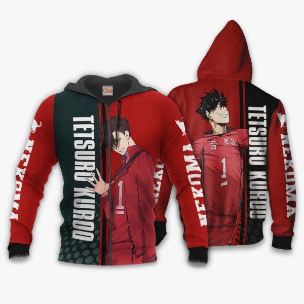 1209 AOP Haikyuu Characters VA Tetsuro Kuroo 1 Zip hoodie font and back n - Haikyuu Merch Store
