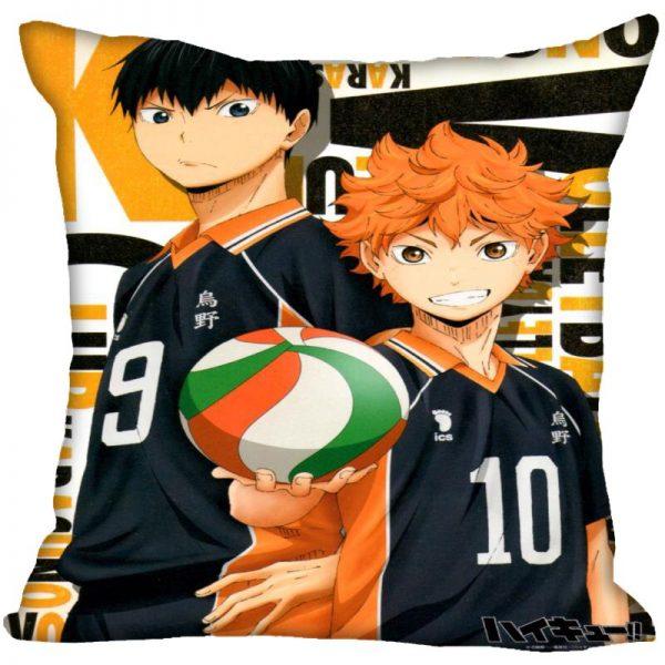 Anime Haikyu Hinata Shoyo Pillowcase Satin Fabric Pillow Cover Square Zipper Pillow Cases Home Office Wedding 3 - Haikyuu Merch Store