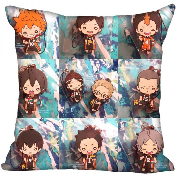Anime Haikyu Hinata Shoyo Pillowcase Satin Fabric Pillow Cover Square Zipper Pillow Cases Home Office Wedding 5 - Haikyuu Merch Store