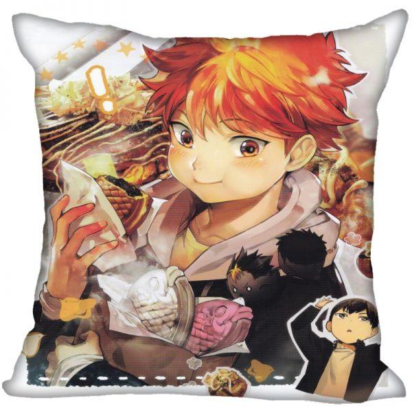 Anime Haikyu Hinata Shoyo Pillowcase Satin Fabric Pillow Cover Square Zipper Pillow Cases Home Office Wedding - Haikyuu Merch Store