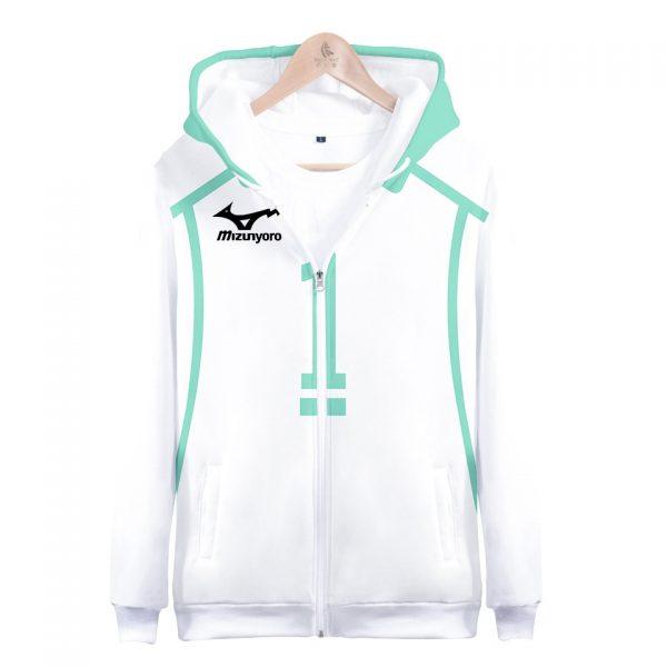 Anime Haikyuu Cosplay costume Aoba Johsai High School Volleyball Club Oikawa Tooru 3D hoodie men zipper - Haikyuu Merch Store