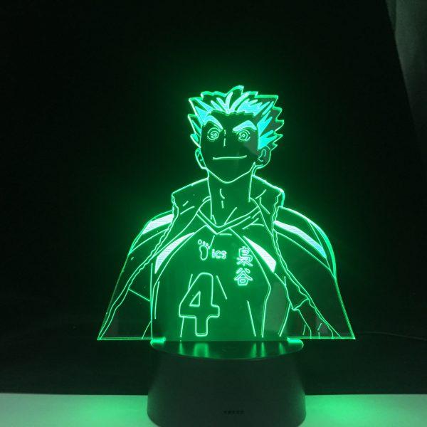 Bokuto Anime Lamp Haikyuu NARUTO Figure Nightlight Acrylic 3d Lamp for Kid Bedroom Decor Anime Light 1 - Haikyuu Merch Store