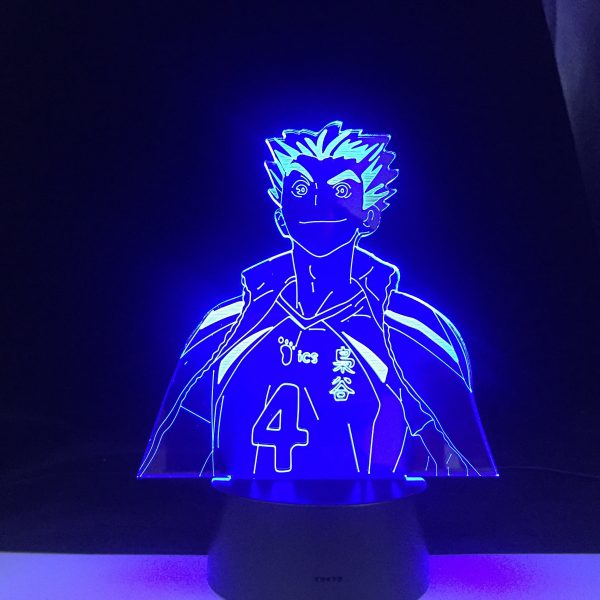 Bokuto Anime Lamp Haikyuu NARUTO Figure Nightlight Acrylic 3d Lamp for Kid Bedroom Decor Anime Light 3 - Haikyuu Merch Store
