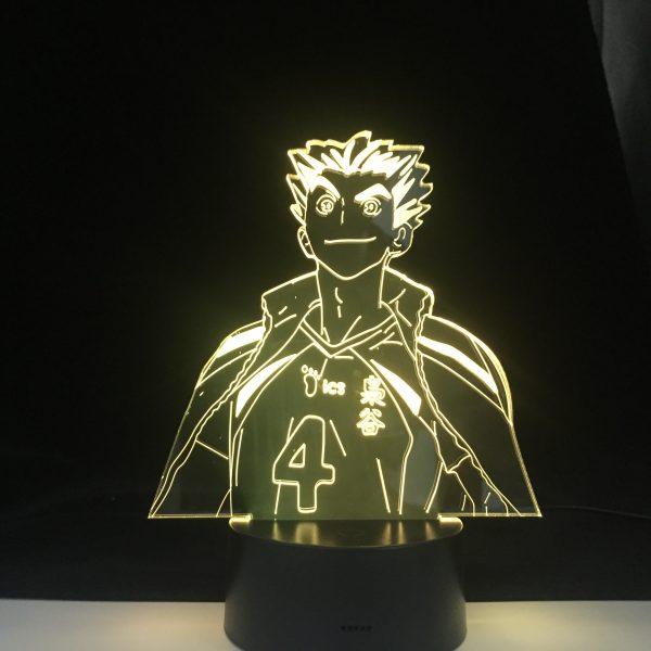 Bokuto Anime Lamp Haikyuu NARUTO Figure Nightlight Acrylic 3d Lamp for Kid Bedroom Decor Anime Light - Haikyuu Merch Store