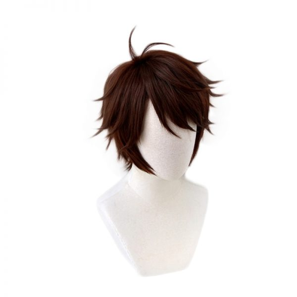 Haikyuu Aoba Johsai Toru Oikawa Tooru Dark Brown Short Wig Cosplay Costume Heat Resistant Synthetic Hair 1 - Haikyuu Merch Store