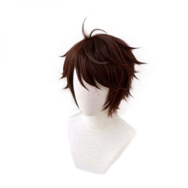 Haikyuu Aoba Johsai Toru Oikawa Tooru Dark Brown Short Wig Cosplay Costume Heat Resistant Synthetic Hair 2 - Haikyuu Merch Store