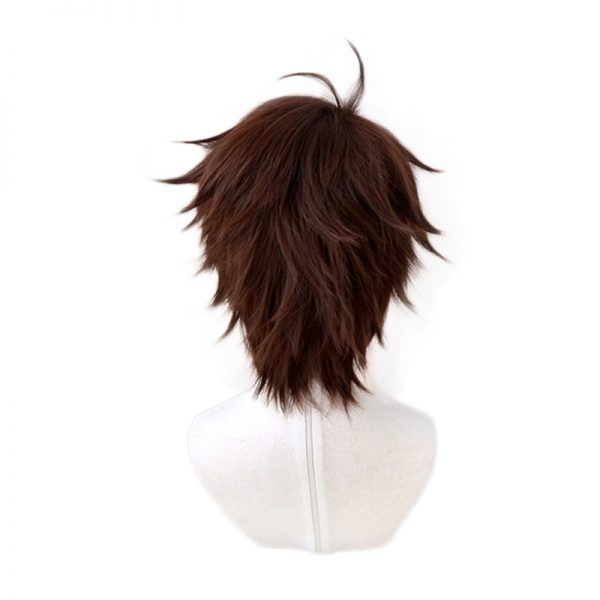 Haikyuu Aoba Johsai Toru Oikawa Tooru Dark Brown Short Wig Cosplay Costume Heat Resistant Synthetic Hair 3 - Haikyuu Merch Store