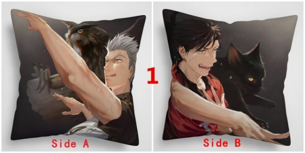 Haikyuu Bokuto Kuroo Sakusa Keiji Tobio Anime Two Sided Pillow Cushion Case - Haikyuu Merch Store
