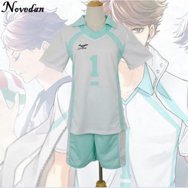 Haikyuu Kageyama Tobio Aoba Johsai Koushi Sugawara Oikawa Tooru Cosplay Costume Uniform Jersey 2 - Haikyuu Merch Store
