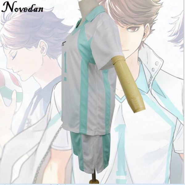 Haikyuu Kageyama Tobio Aoba Johsai Koushi Sugawara Oikawa Tooru Cosplay Costume Uniform Jersey 4 - Haikyuu Merch Store