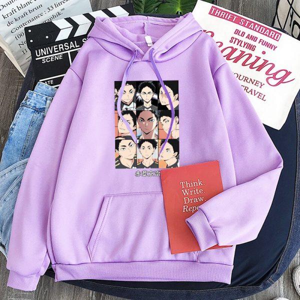 Japanese Anime Haikyuu Keiji Akaashi Printing Men Sweatshirts Fashion Cartoon Adult Kids Casual Oversized Unisex Winter 1 - Haikyuu Merch Store