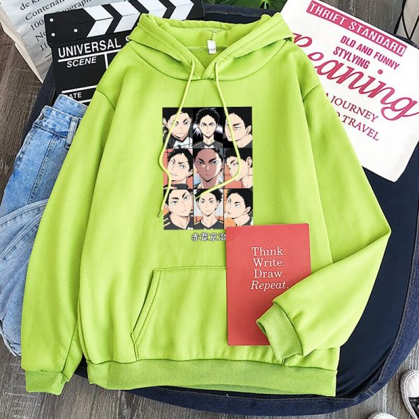 Japanese Anime Haikyuu Keiji Akaashi Printing Men Sweatshirts Fashion Cartoon Adult Kids Casual Oversized Unisex Winter 2 - Haikyuu Merch Store