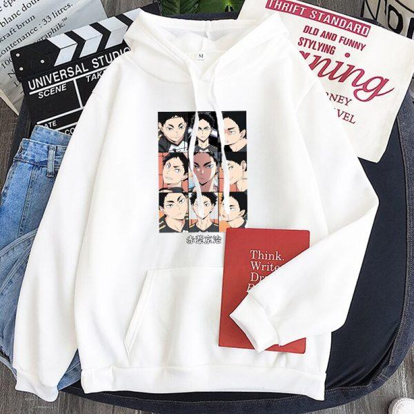 Japanese Anime Haikyuu Keiji Akaashi Printing Men Sweatshirts Fashion Cartoon Adult Kids Casual Oversized Unisex Winter 4 - Haikyuu Merch Store