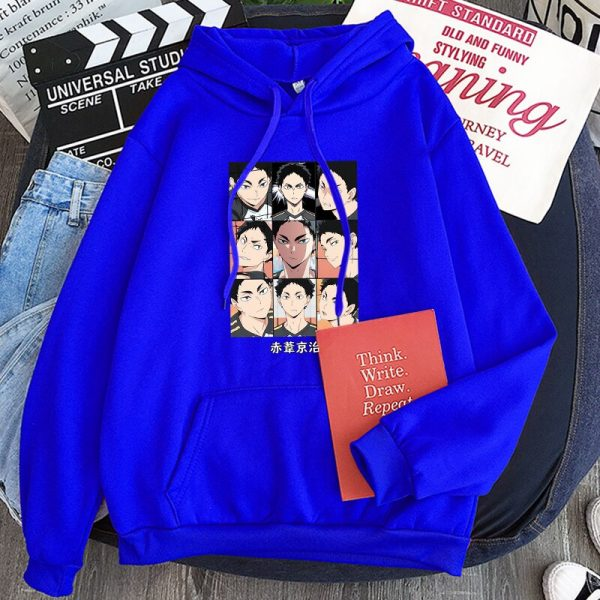 Japanese Anime Haikyuu Keiji Akaashi Printing Men Sweatshirts Fashion Cartoon Adult Kids Casual Oversized Unisex Winter 5 - Haikyuu Merch Store