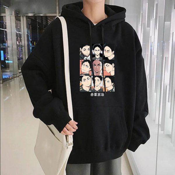 Japanese Anime Haikyuu Keiji Akaashi Printing Men Sweatshirts Fashion Cartoon Adult Kids Casual Oversized Unisex Winter - Haikyuu Merch Store