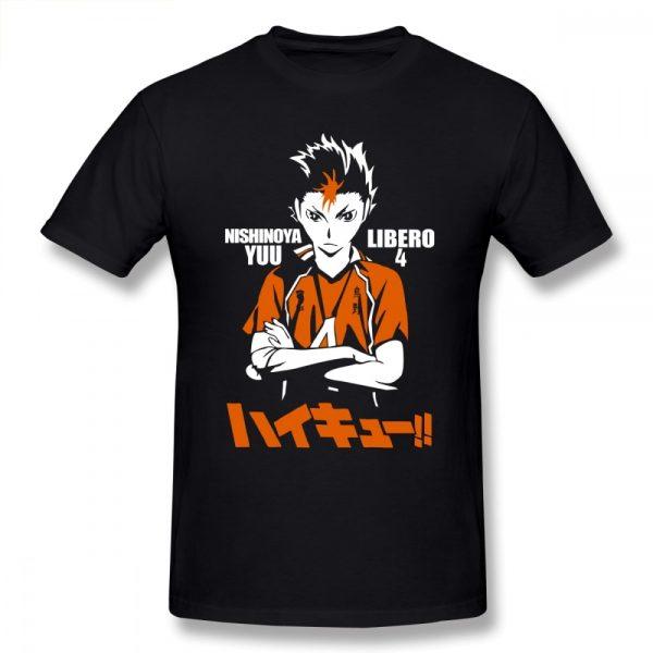 Nishinoya Yuu Haikyuu T Shirt Short Sleeve T shirts For Men Popular Vintage Oversize Cotton Shirts - Haikyuu Merch Store