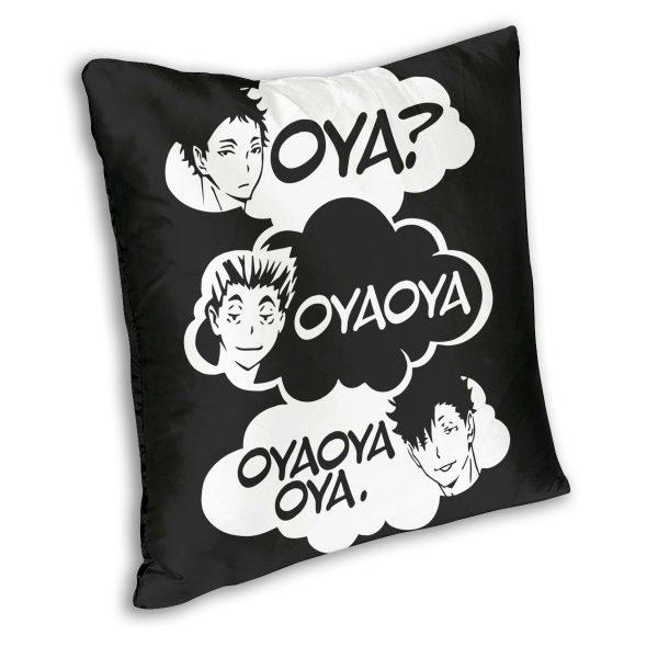 Oya Oya Oya Haikyuu Pillow Cover Decoration Kuroo Bokuto Shoyo Volleyball Cushions Throw Pillow for Home 1 - Haikyuu Merch Store