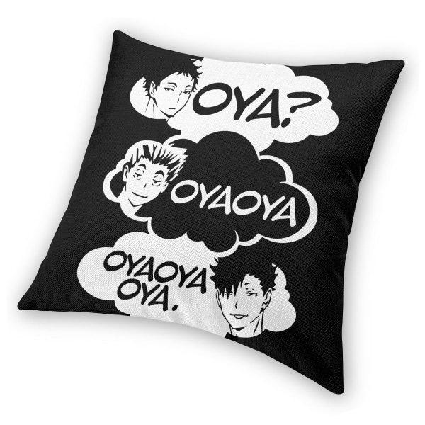 Oya Oya Oya Haikyuu Pillow Cover Decoration Kuroo Bokuto Shoyo Volleyball Cushions Throw Pillow for Home 2 - Haikyuu Merch Store