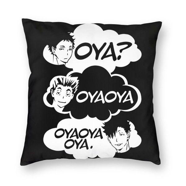 Oya Oya Oya Haikyuu Pillow Cover Decoration Kuroo Bokuto Shoyo Volleyball Cushions Throw Pillow for Home - Haikyuu Merch Store