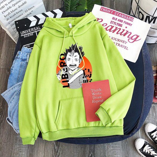 Yu Nishinoya Haikyuu Cartoon Print Hoodies Sweatshirt Men Harajuku Karasuno High School Funny Pullover Winter Oversized 1 - Haikyuu Merch Store