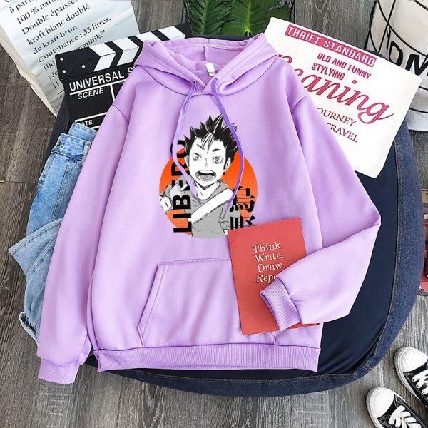 Yu Nishinoya Haikyuu Cartoon Print Hoodies Sweatshirt Men Harajuku Karasuno High School Funny Pullover Winter Oversized 2 - Haikyuu Merch Store