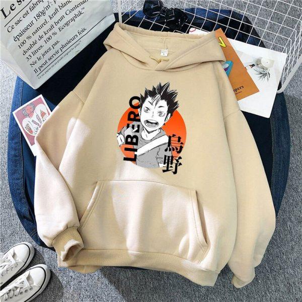 Yu Nishinoya Haikyuu Cartoon Print Hoodies Sweatshirt Men Harajuku Karasuno High School Funny Pullover Winter Oversized 3 - Haikyuu Merch Store