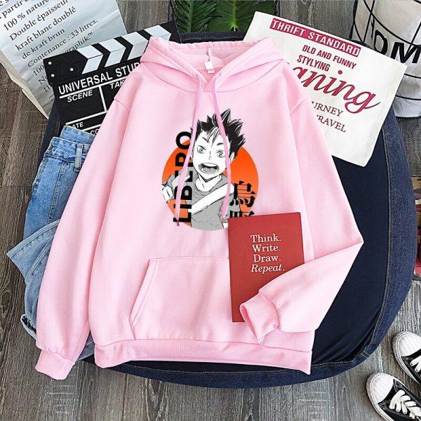 Yu Nishinoya Haikyuu Cartoon Print Hoodies Sweatshirt Men Harajuku Karasuno High School Funny Pullover Winter Oversized 4 - Haikyuu Merch Store