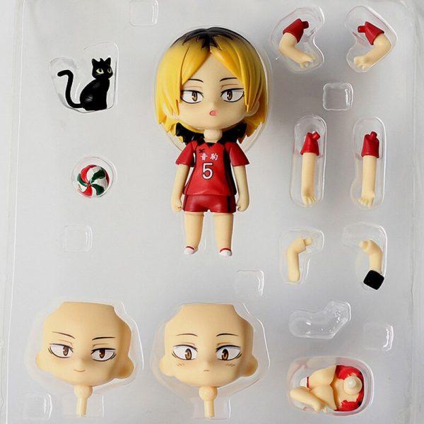 10CM Anime Haikyuu Figure Toys 605 Kozume Kenma Q Version Clay Doll Nekoma High School Volleyball 5 - Haikyuu Merch Store