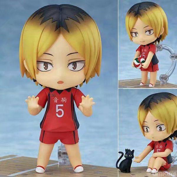 10CM Anime Haikyuu Figure Toys 605 Kozume Kenma Q Version Clay Doll Nekoma High School Volleyball - Haikyuu Merch Store