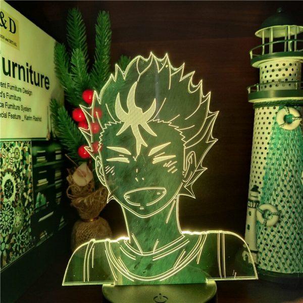Anime Figures Haikyuu Yu Nishinoya Toys 3D Led Visual Led Touch Sensor Model Action Figma Collectible 3 - Haikyuu Merch Store