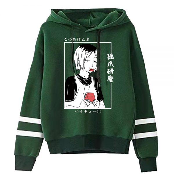 Anime Haikyuu Men Women Sweatshirt Kawaii Hoodies Manga Kenma Kozume Pullovers Harajuku Streetwear Striped Clothes 3 - Haikyuu Merch Store