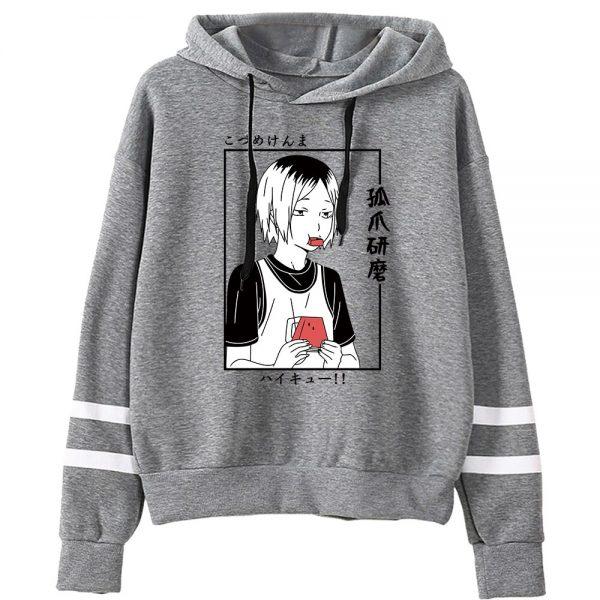Anime Haikyuu Men Women Sweatshirt Kawaii Hoodies Manga Kenma Kozume Pullovers Harajuku Streetwear Striped Clothes 4 - Haikyuu Merch Store