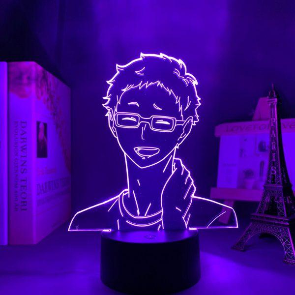 Anime Light Haikyuu Kei Tsukishima Kid Bedroom Decor Lamp Birthday Gift Manga 3D Night Light 2 - Haikyuu Merch Store