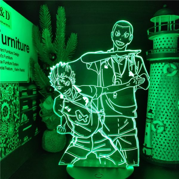 HAIKYUU NISHINOYA AND TANAKA Led 3D Nightlights Illusion ANIME LAMP Color Changing Lampara For Home Decoration 3 - Haikyuu Merch Store