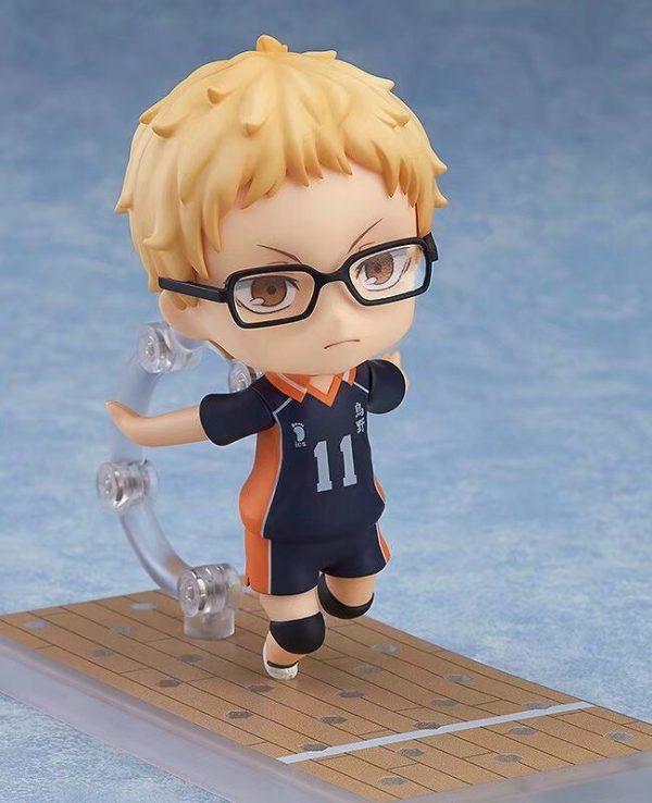 Haikyuu Kei Tsukishima 616 PVC Action Figure Anime Haikyuu Tsukishima Cute Model Toy Figurine 100mm 2 - Haikyuu Merch Store